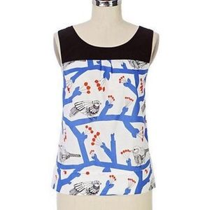 Anthropologie Marimekko bird print top